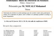 Soutenance thèse de Doctorat en Sciences M.NOUALI Mohamed
