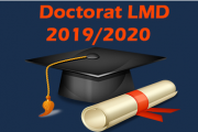 Doctorat de 3ème cycle (LMD) 2019-2020
