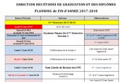 Planning de fin 2017-2018